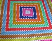Vintage afghan -- big bright square