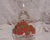 Vintage Strawberry Shortcake Glass Pitcher Jar