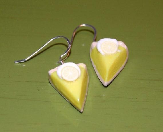 SALE - Lemon Meringue Pie Earrings