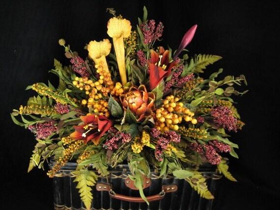 Tuscan Mantel Topper Shelf Sitter Floral Arrangement