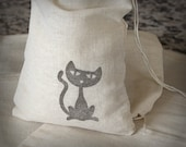 Black Cat Halloween Gift Bag Favor Party Goodie Sack Set 6