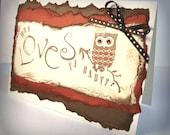Owl Love Valentine Card Cute Woodland Who Loves Ya Baby Handmade