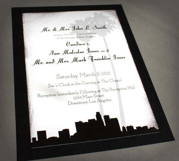 Wedding Invitations Los Angeles is the best ideas you have to choose for invitation example