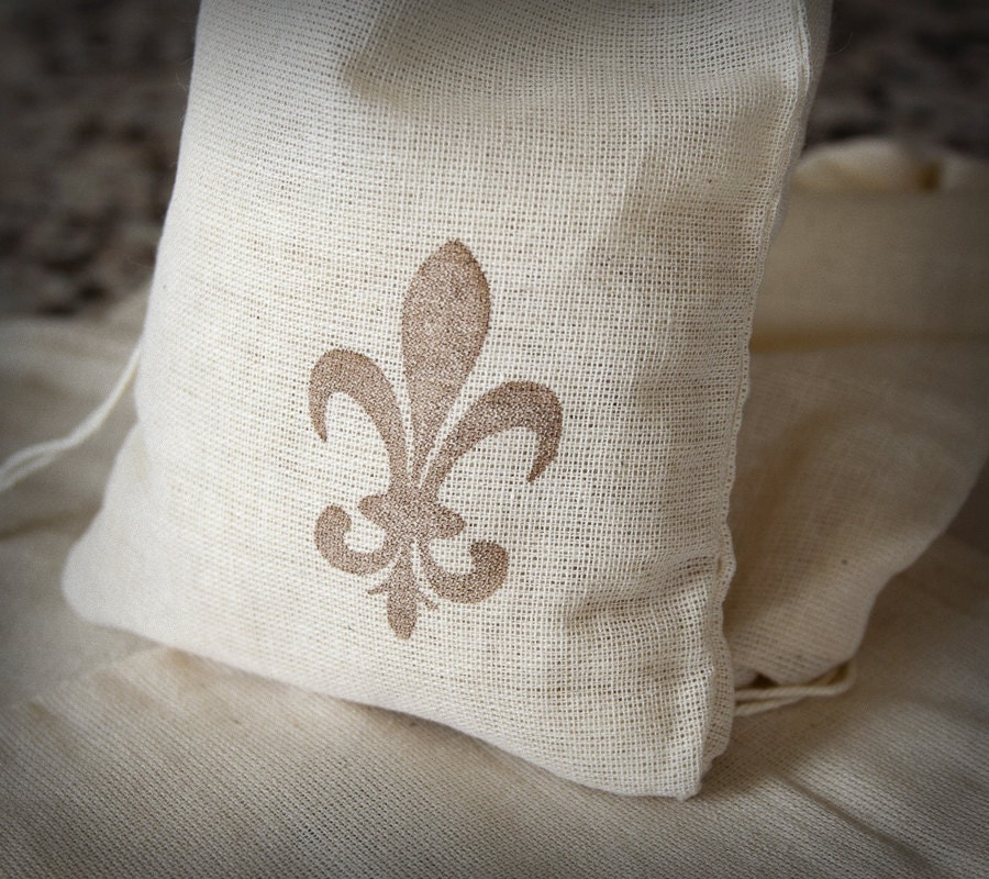 New Orleans Wedding Ideas: Fleur De Lis Wedding New Orleans Gift Bag Favor Bridal Party