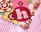 Personalized Baby Girl Blanket - Kleo Pink Minky