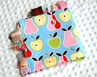Baby Girl Tag Blanket  - Apples and Pears