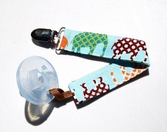 Soothie Pacifier Clip - Urban Elephant Binky Clip - Mam Pacifier Clip - Avent Clip - Pacifier Clip Boy