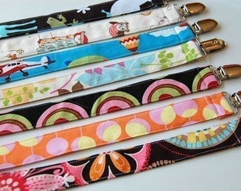 Pacifier Clip Set of 5 - Over 85 choices, Mam, Nuk, Avent, Soothie, Gumdrop Pacifier Holder