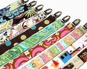 Pacifier Clip Set - Girl Pacifier Clips - Boy Pacifier Clips - Over 90 choices