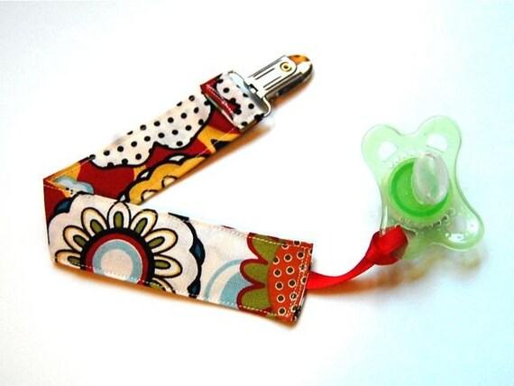 Pacifier Clip-Binky Chain- Sunflower Garden