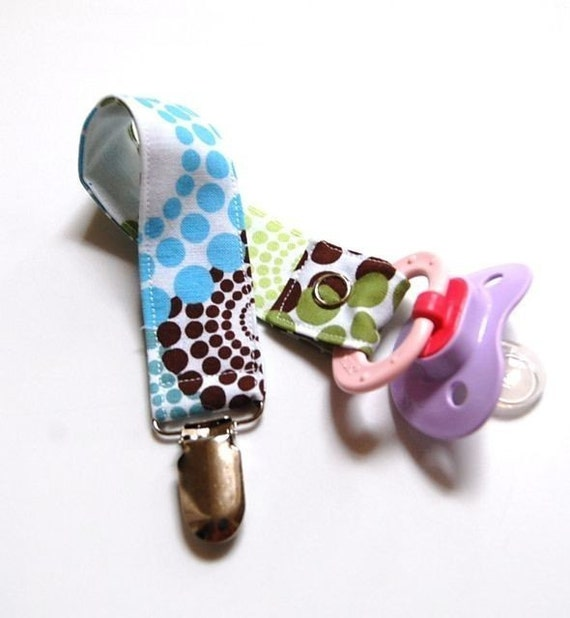 Baby Boy Pacifier Clip - Roundabout Spa