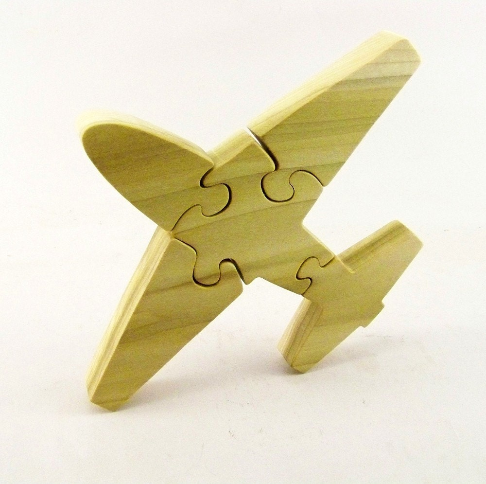 Airplane Wood Puzzle