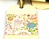 BRIGHT FLOWERS - Set of 4 Handmade Gift Tags