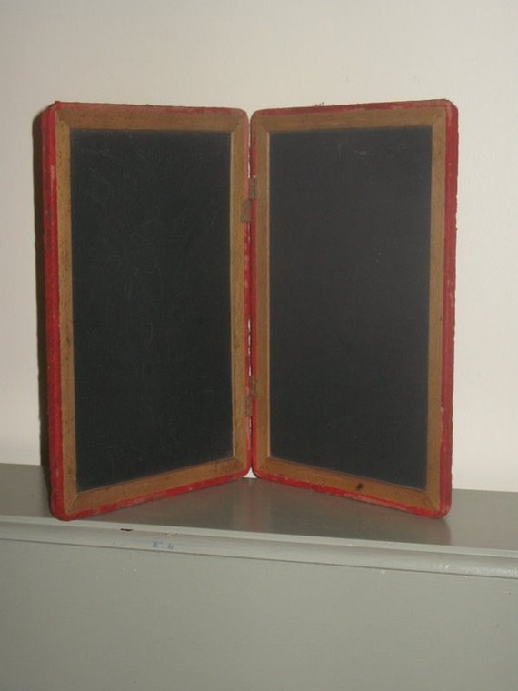 vintage double chalkboard BACK TO SCHOOL