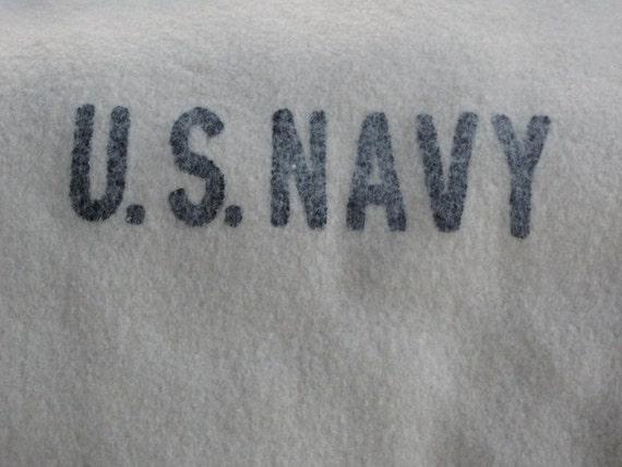 vintage US NAVY boiled wool blanket ... Last One