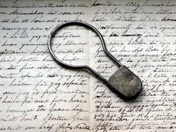 vintage industrial key ring locker pin