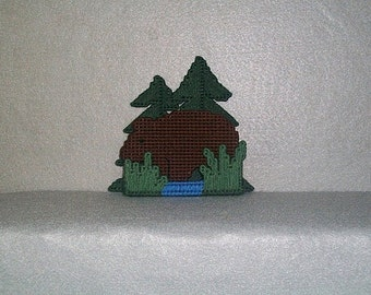 Bear in the Woods Coaster set