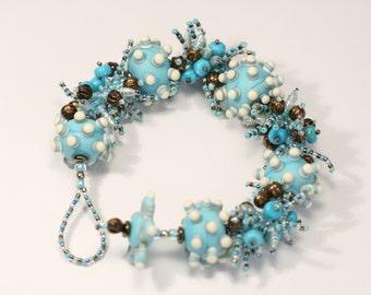 Turquoise Fringe Bracelet