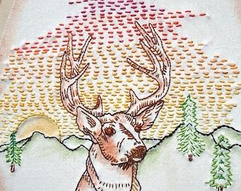 Woodland Creatures Iron on Hand Embroidery Pattern (original design)