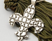 Fleur de Lis Pendant for Autism Awareness