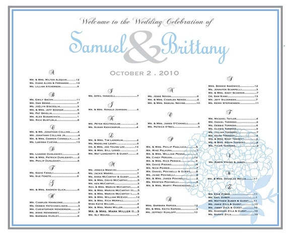 items similar to wedding seating chart hydrangea  wedding table assignments  wedding seating