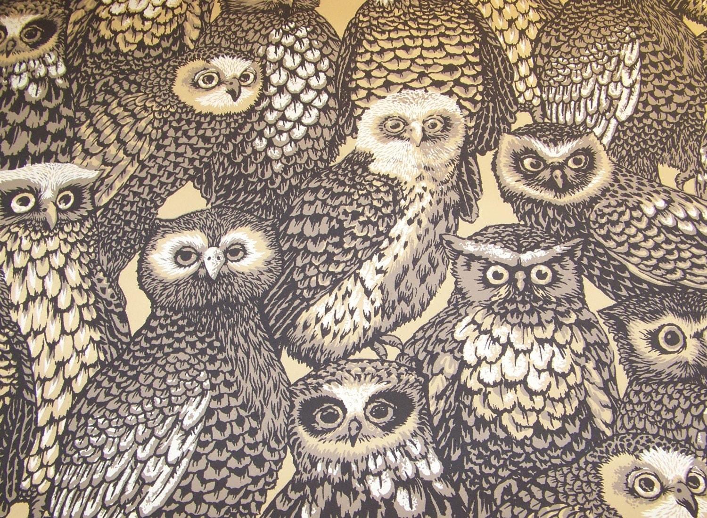 Vintage owl wallpaper - photo#14