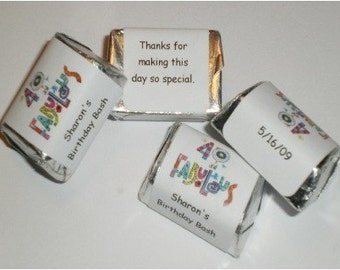 60 Fabulous Birthday Candy Wrappers