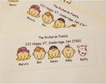 60 Personalized Return Face Address Labels