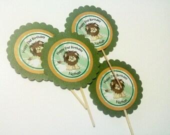 12 Jungle Cupcake Picks/Toppers