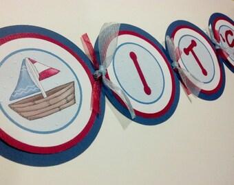 It's a Boy Nautical Banner