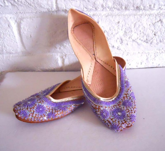 tribal indian beaded khussa wedding shoes leather