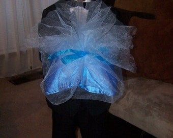 Blue Wrapped Ring Bearer Pillow