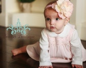 Pink Flower Baby Headband, Large Pink Flower, All Sizes, Baby, Infant, Toddler - The Sweet Pea
