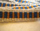PIF. royal blue handwoven headband.belt.strap