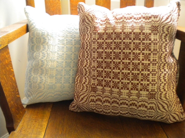 Victorian Throw Pillows : victorian star. handwoven throw pillow. spicy cinnamon.