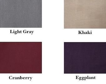 3 Narrow Neutral Headbands - Choose black, chocolate, gray, khaki, cranberry, eggplant, mustard or navy