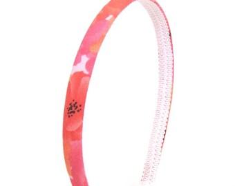 Skinny Bright Flowers Headband