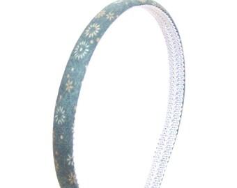 Skinny Cyan Green Headband - Starbursts