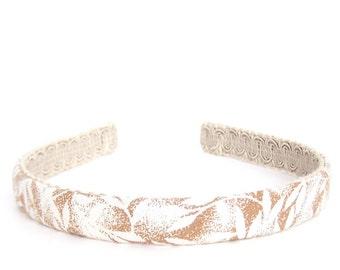 Autumn Leaves Headband in Copper - Narrow Headband