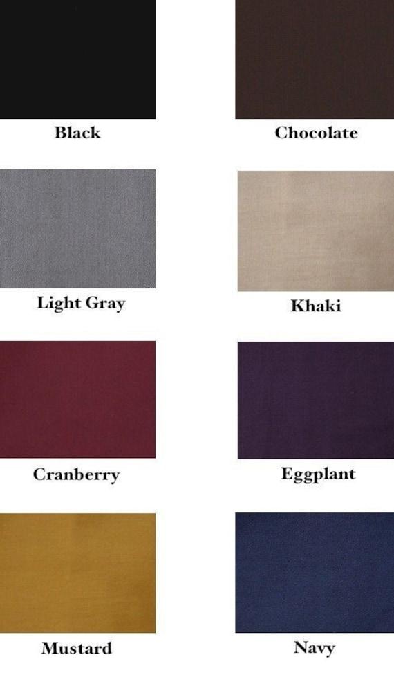 2 Headbands - 1 inch - Choose black, chocolate, gray, khaki, cranberry, eggplant, mustard or navy
