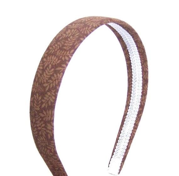 Brown Leaves Headband  - Neutral Autumn / Fall Leaves