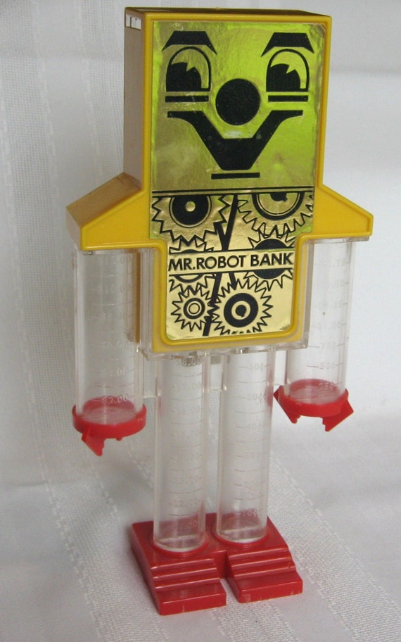 Vintage mr robot bank and coin sorter - Coin sorting piggy bank ...