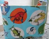 Reversible Organizer Fabric Dr Seuss The Cat In The Hat Blue Basket Bin Storage