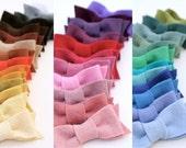 2 felt bow hair clips- choose your colors