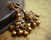 Ghanghali Indian Brass Jhumka Earrings