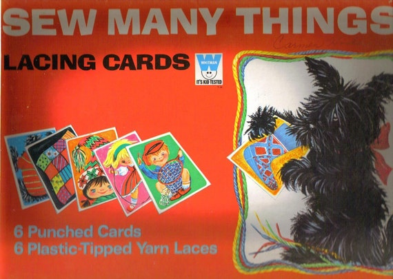 Sew Many Things Lacing Cards by Whitman