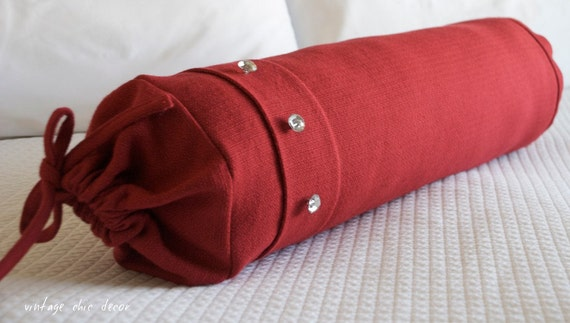 On Sale - Bolster pillow - decorative pillow - pillow cover - 21 X 6.5 of diameter - red - Ships Within 24hrs