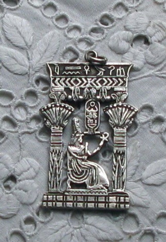 Reserved for Audrey - Egyptian Pendant - Cleopatra in Egypt  - Sterling 925