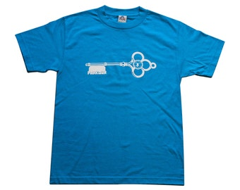 Key to the City - Parkour T-Shirt - Turquoise Blue