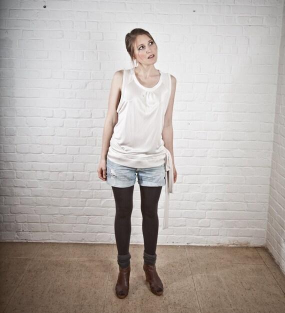 Miki open back wrap top, bohemian, boho, hippie, luxery silky white top